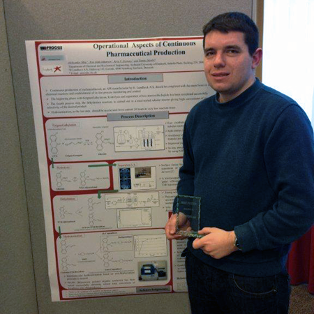 Aleksandar Mitic wins Poster Award at Flow Chemistry Europe 2013