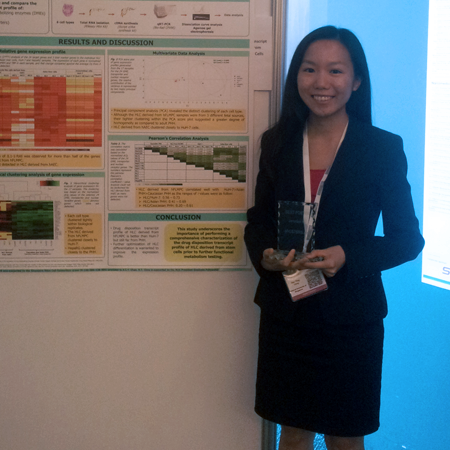 Hui Ting Chng wins Poster Award at ADME and Predictive Toxicology 2013