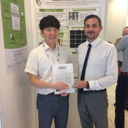 YoungWon Koo wins Best Poster Award at International Bioprinting Congress 2015