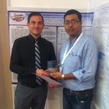 Kaushal Yadav wins Best Poster Award at Advances in qPCR & dPCR