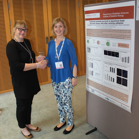 Lisa Mutschelknaus wins Best Poster Award at Extracellular Vesicles 2016