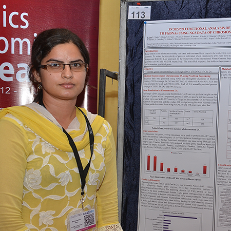 Parampreet Kaur wins Poster Award at Genomics & Proteomics Research 2014