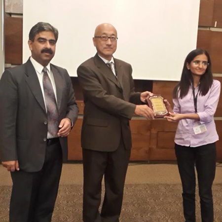 Ms Shalu Jhajra wins Best Poster Award at the Drug Metabolism and Discovery ADMET India 2014 conference
