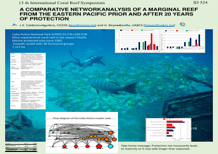 A COMPARATIVE NETWORKANALYSIS OF A MARGINAL REEF FROM THE EASTERN PACIFIC PRIOR AND AFTER 20 YEARS OF PROTECTION