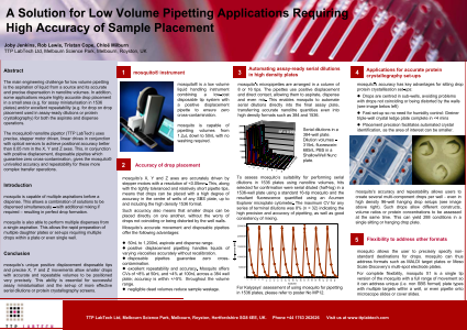 A Solution for Low Volume Pipetting Applications Requiring High Accuracy of Sample Placement