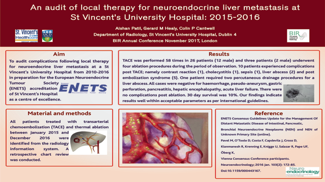An audit of local therapy for neuroendocrine liver metastasis at St. Vincent