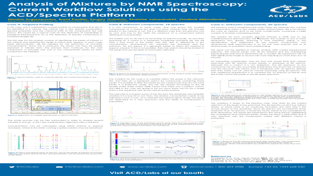 Eposters Analysis Of Mixtures By Nmr Spectroscopy Current