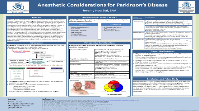 Anesthetic Considerations for Parkinson