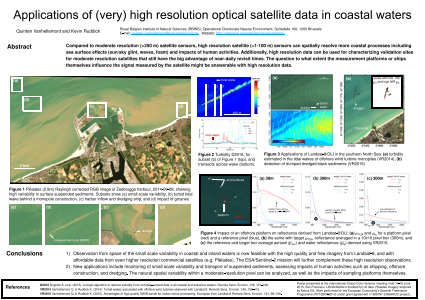 Applications of (very) high resolution optical satellite data in coastal waters