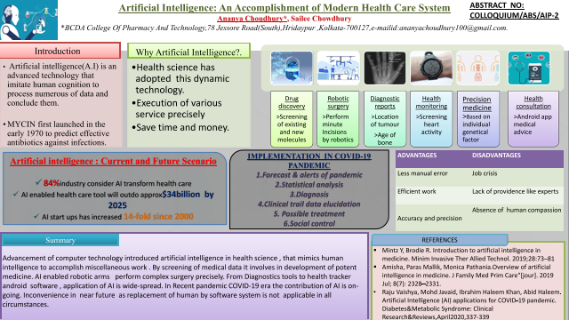 Artificial Intelligence: An Accomplishment of Modern Health Care System
