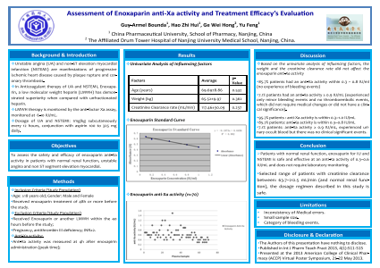 Assessment of Enoxaparin anti-Xa activity and Treatment Efficacy's Evaluation
