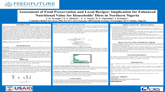 Assessment of Food Preservation and Local Recipes: Implication for Enhanced Nutritional Value for Households' Diets in Northern Nigeria