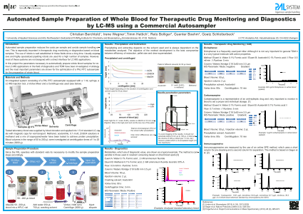Automated Sample Preparation of Whole Blood for Therapeutic Drug Monitoring and Diagnostics by LC-MS using a Commercial Autosampler
