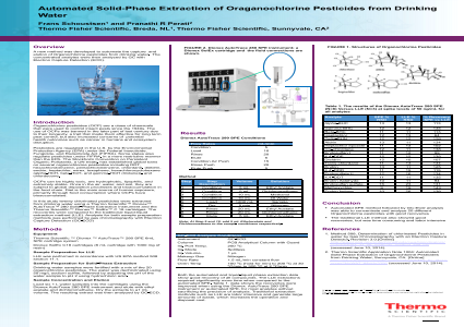 Automated Solid-Phase Extraction of Oraganochlorine Pesticides from Drinking Water
