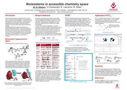 Bioisosteres in accessible chemistry space