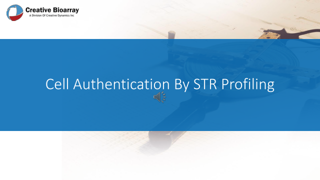 Cell Authentication By STR Profile