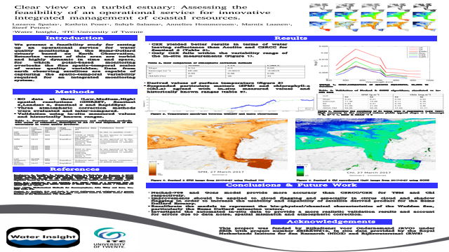 Clear view on a turbid estuary: Assessing the feasibility of an operational service for innovative integrated management of coastal resources.