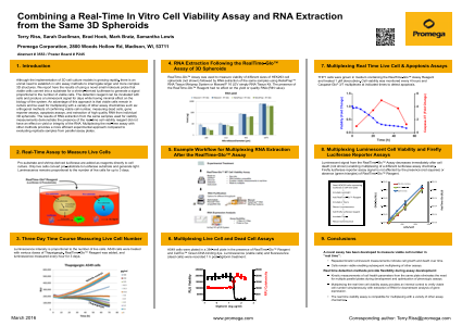 Combining a Real-Time In Vitro Cell Viability Assay and RNA Extraction from the Same 3D Spheroids