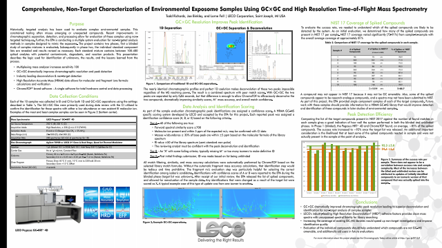 Comprehensive, Non-Target Characterization of Environmental Exposome Samples Using GCxGC and High Resolution Time-of-Flight Mass Spectrometry