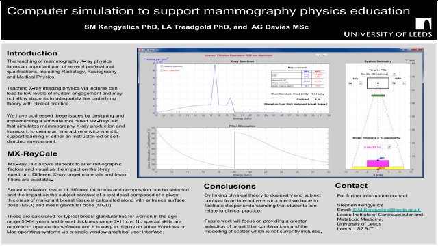Computer simulation to support mammography physics education