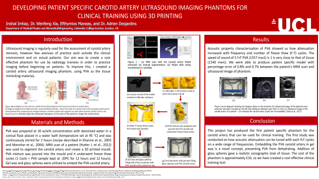 DEVELOPING PATIENT SPECIFIC CAROTID ARTERY ULTRASOUND IMAGING PHANTOMS FOR CLINICAL TRAINING USING 3D PRINTING
