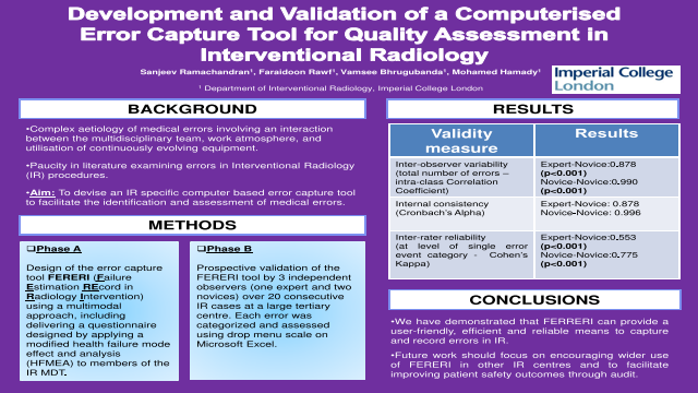 Development and Validation of a Computerised Error Capture Tool for Quality Assessment in Interventional Radiology