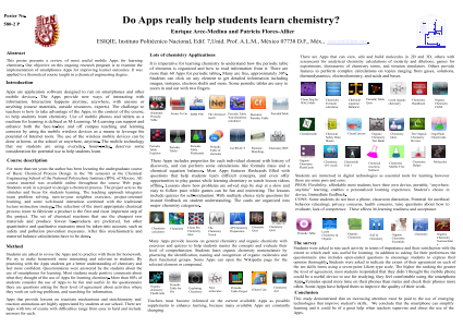 Do Apps really help students learn chemistry?