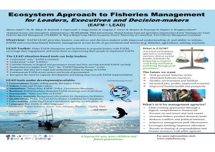 Ecosystem Approach to Fisheries Management for Leaders, Executives and Decision-makers (EAFM LEAD)