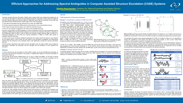 Efficient Approaches for Addressing Spectral Ambiguities in Computer Assisted Structure Elucidation (CASE) Systems