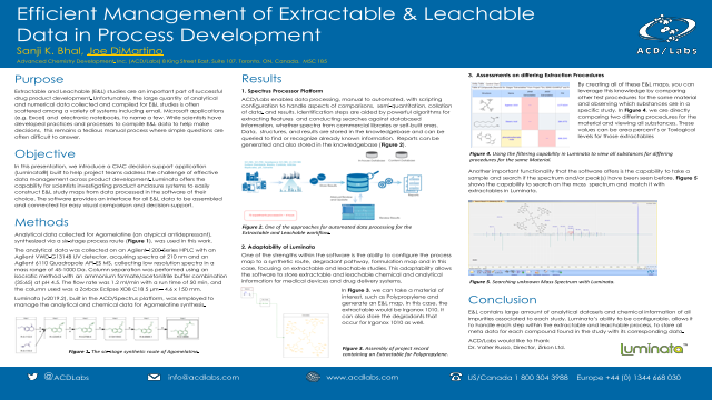 Efficient Management of Extractable & Leachable Data in Process Development