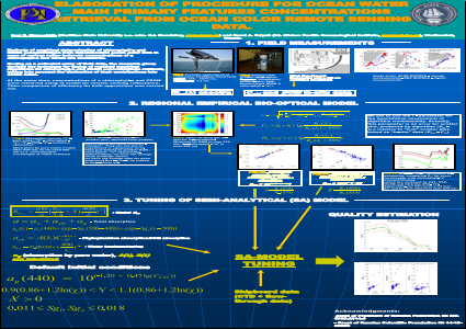 ELABORATION OF PROCEDURE FOR OCEAN WATER MAIN PRIMARY FEATURES CONCENTRATIONS RETRIEVAL FROM OCEAN COLOR REMOTE SENSING DATA