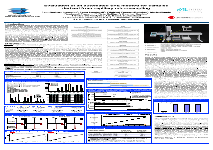 Evaluation of an automated SPE method for samples derived from capillary microsampling