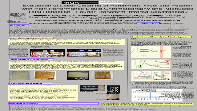 Evaluation of Laser Cleaning of Parchment, Wool and Featherwith High Performance Liquid Chromatography and AttenuatedTotal Reflection -Fourier Transform Infrared Spectroscopy
