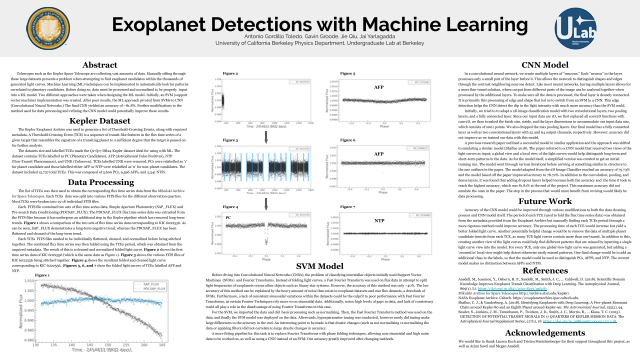 Exoplanet Detections with Machine Learning