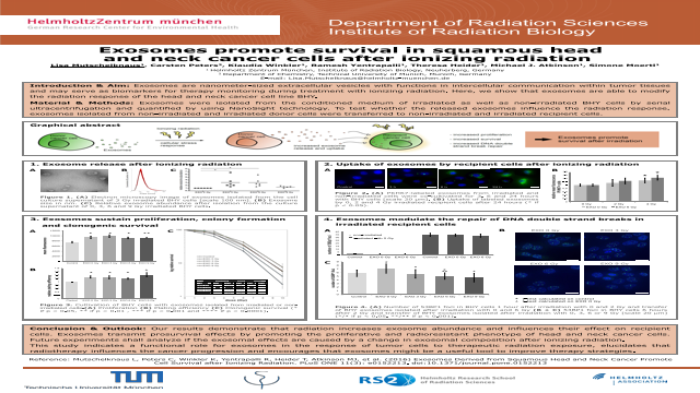 Exosomes promote survival in squamous head and neck cancer cells after ionizing radiation