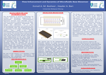 Flow Enhancement and Dynamic of Microfluidic Base Biosensor