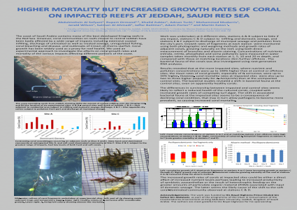 HIGHER MORTALITY BUT INCREASED GROWTH RATES OF CORAL