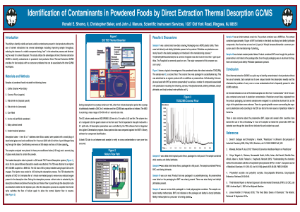 Identification of Contaminants in Powdered Foods by Direct Extraction Thermal Desorption GC/MS