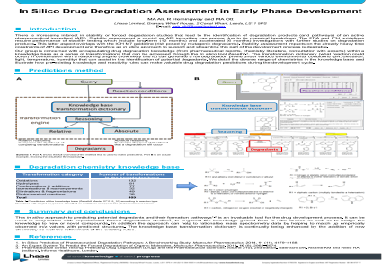 In Silico Drug Degradation Assessment in Early Phase Development