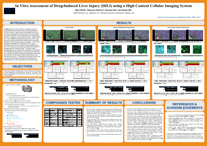In Vitro Assessment of Drug-Induced Liver Injury (DILI) using a High Content Cellular Imaging System