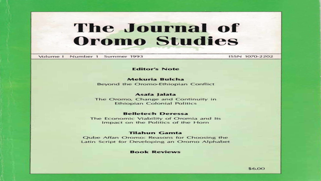 Journal of Oromo People