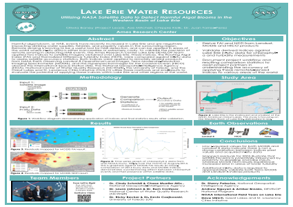 Lake Erie Water Resources: Utilizing NASA Satellite Data to Detect Harmful Algal Blooms in the Western Basin of Lake Erie