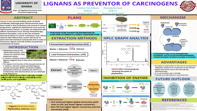 Lignans as preventor of Carcinogens