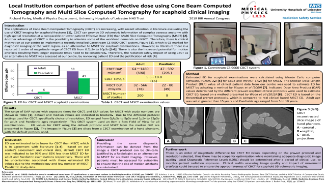 Local Institution comparison of patient effective dose using Cone Beam Computed Tomography and Multi Slice Computed Tomography for scaphoid clinical imaging
