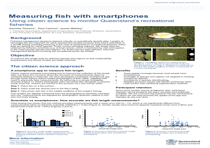 Measuring fish with smartphones: a citizen science approach to monitoring Queensland's recreational fisheries