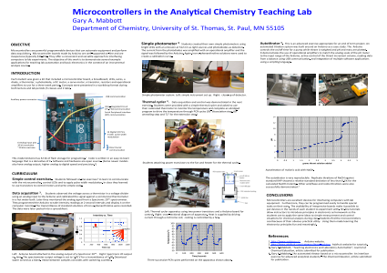 Microcontrollers in the Analytical Chemistry Teaching Lab
