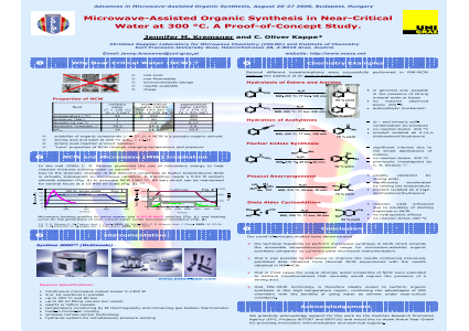Microwave-Assisted Organic Synthesis in Near-Critical Water at 300 <sup>o</sup>C. A Proof-of-Concept Study