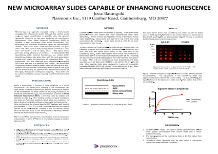 New Microarray Slides Capable of Enhancing Fluorescence