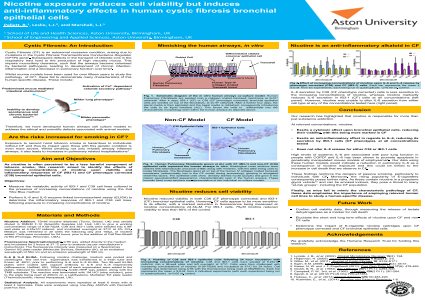 ePosters - Nicotine Exposure Reduces Cell Viability but