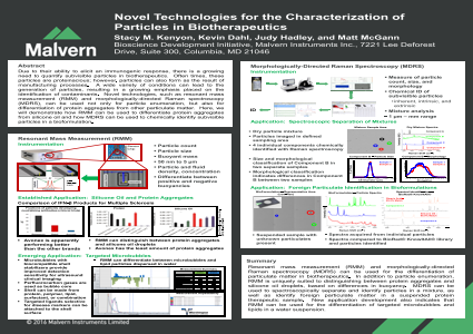 Novel technologies for the characterization of particles in biotherapeutics